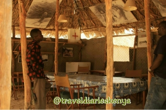 @traveldiarieskenya The mess at kambi ya simba,in Kora national park where George Adamson lived with his lions. pictures of George Adamson displayed in the mess